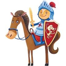 Stickers murali bambini cameretta cavalieri e for Disegno cavallo per bambini